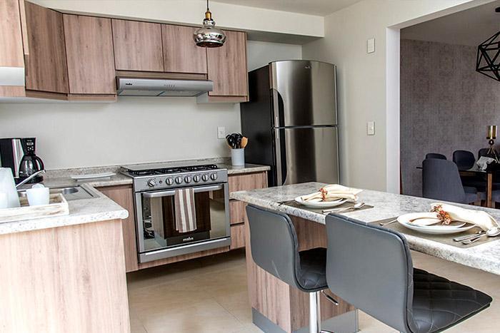 Cocina, Casa modelo Fresno, Privadas del Bosque