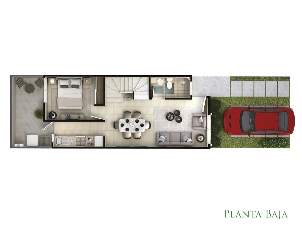Planta Baja modelo Encino, Privadas del Bosque